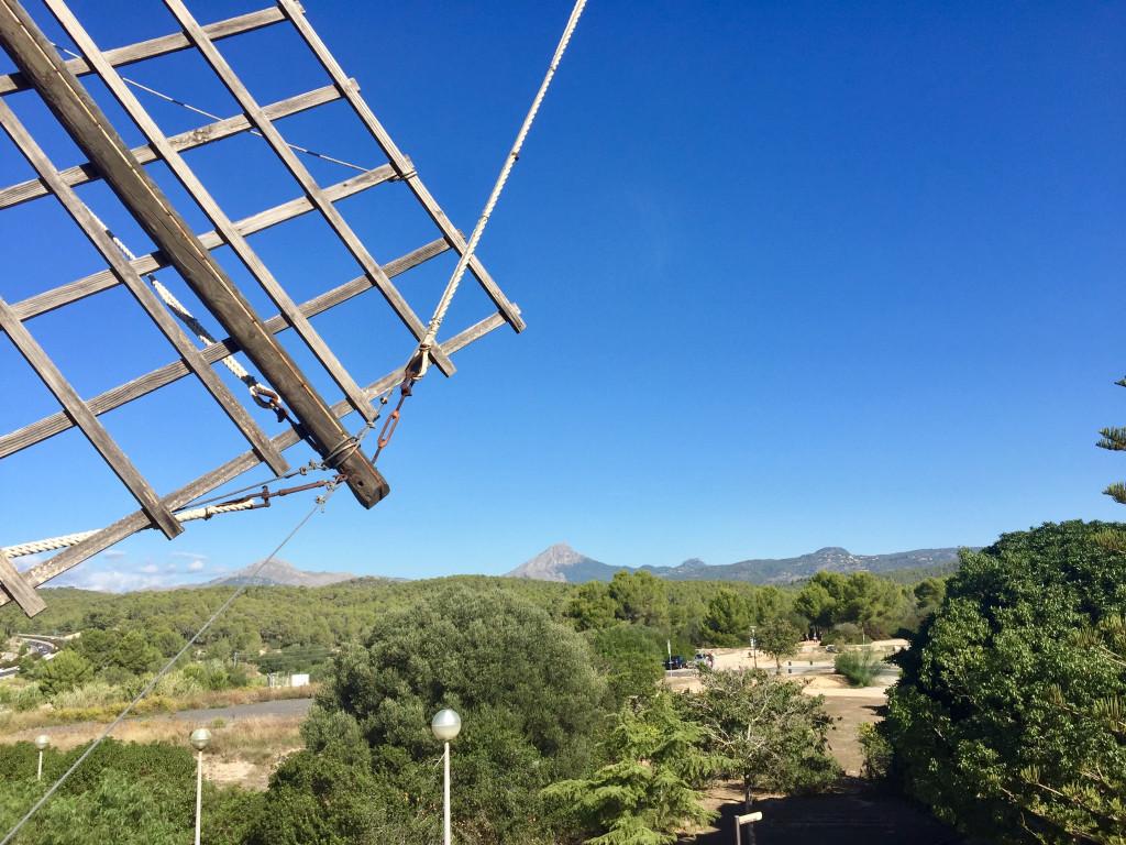 Kleiner Ausflug zur Mühle von Santa Ponsa - Ausblick in die Landschaft von der Mühle aus