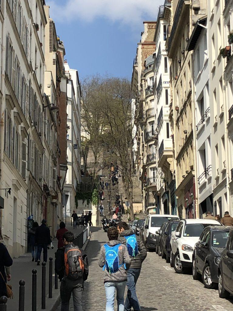Paris ist immer eine Reise wert - Aufstieg zur Sacré Coeur