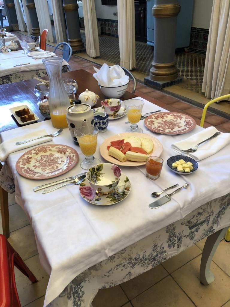 Unsere Kuba-Rundreise: Cienfuegos und El Nicho - Frühstück in der Casa Buena Vista