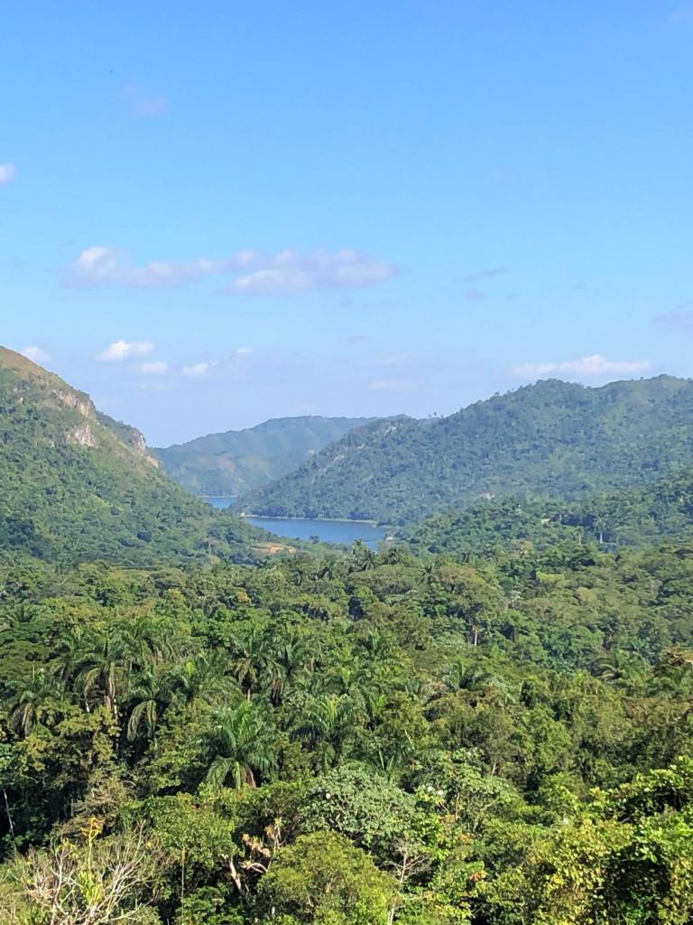 Unsere Kuba-Rundreise: Cienfuegos und El Nicho - Blick auf einen Stausee von El Nicho