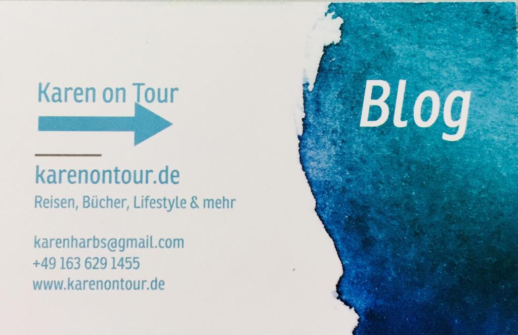 Kontakt - Daten KAREN ON TOUR