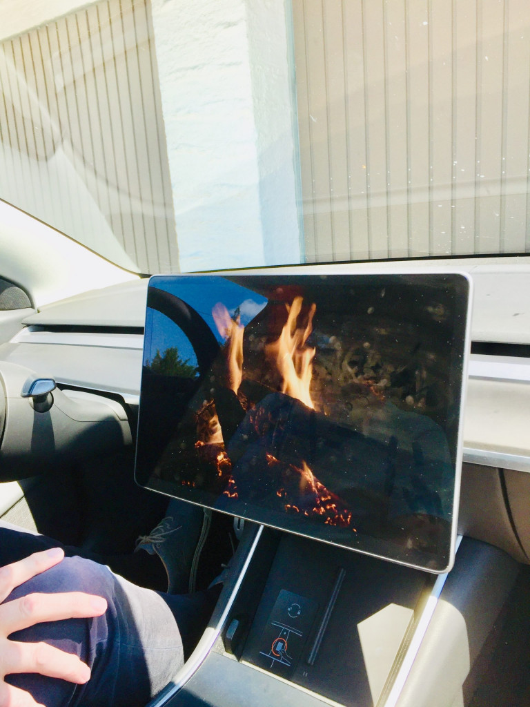 Achtung E-Auto voraus - Lagerfeuer gefällig?