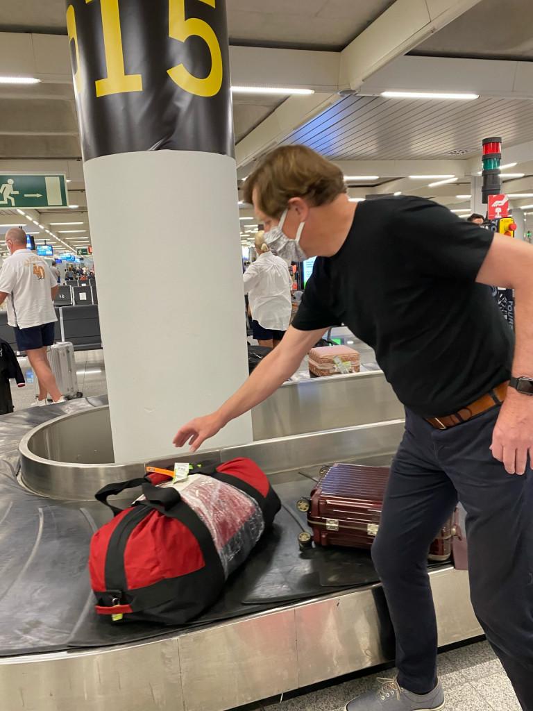 Mallorca Urlaub in Corona Zeiten - am Gepäckband