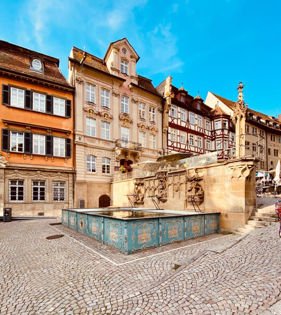 1 Tag in Schwäbisch Hall - der Marktbrunnen