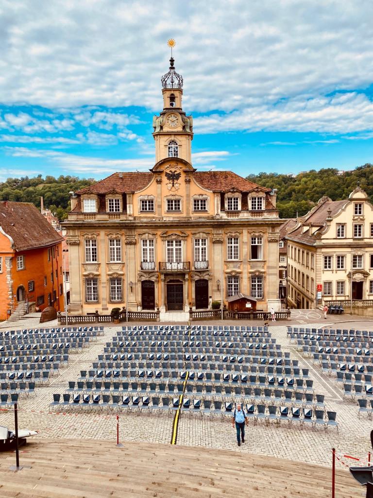 1 Tag in Schwäbisch Hall - Blick auf das barocke Rathaus