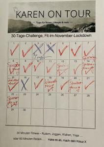 Neues von meiner 30-Tage-Challenge: Mein Kalender aktuell
