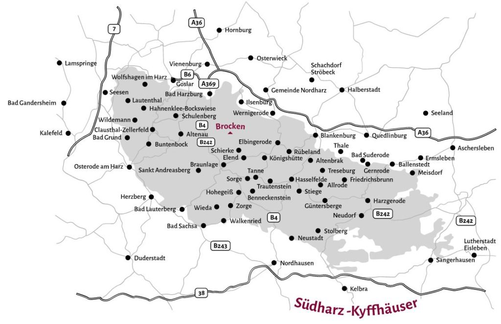 In den Harz - Karte