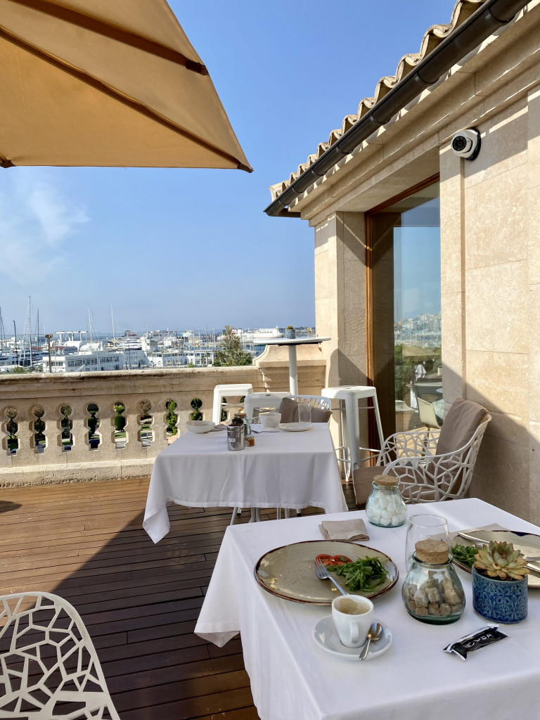 Meine Top1 Rooftop Bar in Palma - Frühstück ganz oben 1