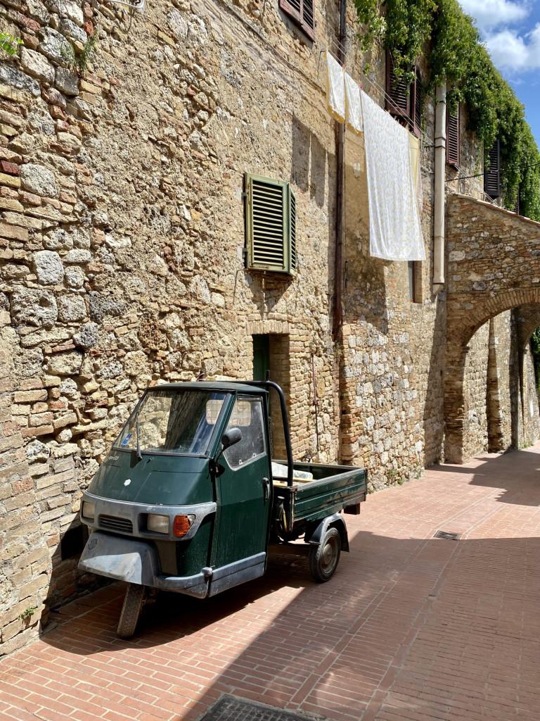 Beliebtes Transportmittel in den engen Gassen der toscanischen Städte